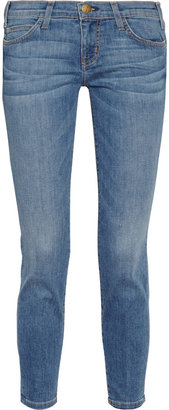 Current/Elliott The Stiletto cropped low-rise skinny jeans