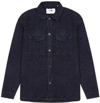 NN07 Berner Navy Linen Shirt