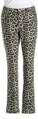 MICHAEL Michael Kors WOMENS Plus Plus Leopard Print Jean Leggings