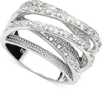 Townsend Victoria Diamond Multi-Row Ring in Sterling Silver (1/2 ct. t.w.)