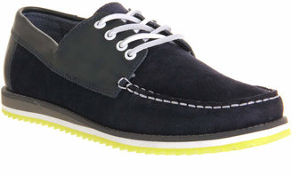 Ask the Missus Miles Boat Pop Sole Navy Suede Leather