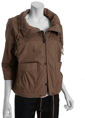 DKNY olive cotton water resistant dolman sleeve anorak