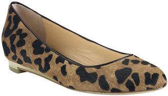 Cole Haan Astoria Leopard Printed Haircalf Flats
