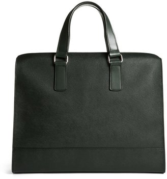 Brooks Brothers Saffiano Leather Slim Briefcase