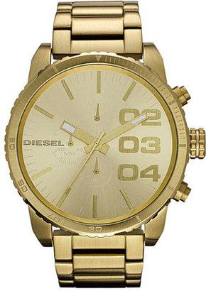 Diesel 'Double Down' Large Chronograph Bracelet Watch, 52mm