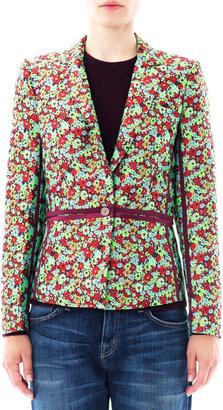Elizabeth and James Amelie pop floral jacquard blazer