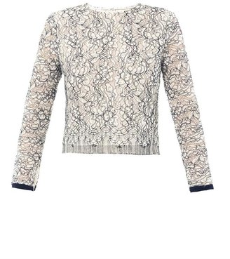 ADAM by Adam Lippes Lace long sleeve top