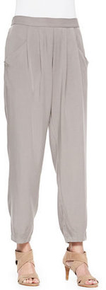 Eileen Fisher Slouchy Ankle Pants, Stone $178 thestylecure.com