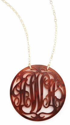 Moon and Lola Rimmed Script Necklace