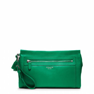 Coach Legacy Large Clutch In Leather