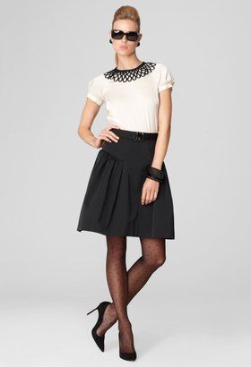 Milly Carine Belted Skirt