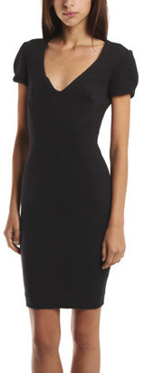 L'Agence Short Sleeve Fitted Dress