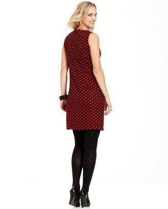 Fever Dress, Sleeveless Polka-Dot Shift