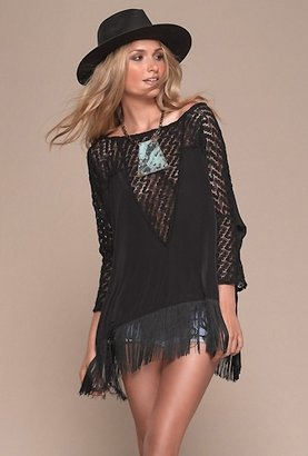 L-Space The Collection by Oasis Poncho in Black