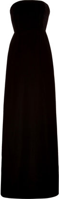 Rochas Velvet/Taffeta Mixed-Media Evening Gown