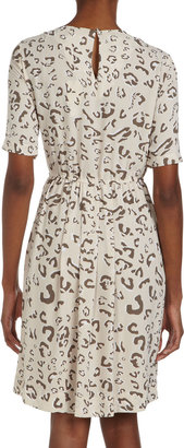 BCBGMAXAZRIA Leopard-Print Dolman-Sleeve Dress