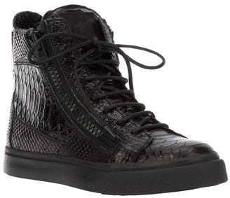 Giuseppe Zanotti Design python skin sneaker