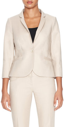 The Limited Sateen One-Button Jacket