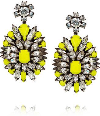 Shourouk Leitmotif silver-plated Swarovski crystal earrings