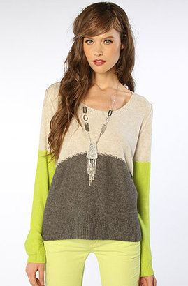 Free People Colorblock Pullover in Gray Combo