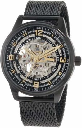 Akribos XXIV Men's AKR446BK Bravura Saturnos Stainless Steel Watch with Mesh Band
