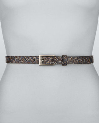 Rivette Paisley-Pattern Belt, Blue