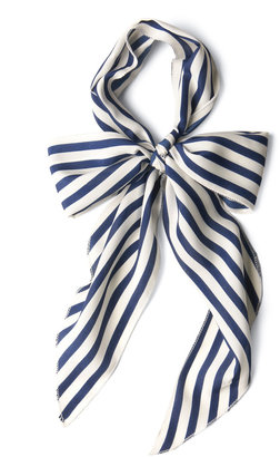 Bow to Stern Scarf in Navy Stripes