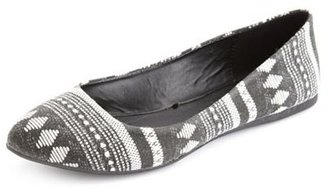 Charlotte Russe Printed Canvas Ballet Flat