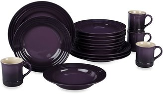 Le Creuset 16-Piece Dining Set in Cassis