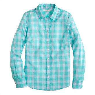 J.Crew Perfect shirt in mint plaid