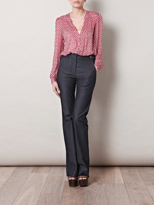 L'Agence Flared denim trousers