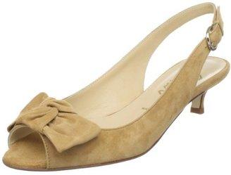 Butter Shoes Women's Salvatore Peep-Toe Kitten Heel