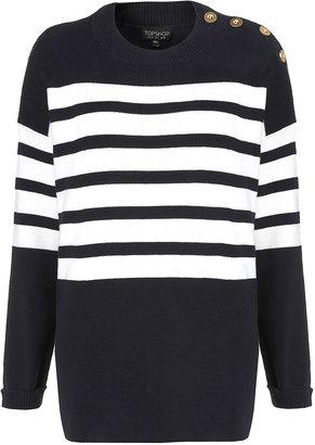 Topshop Knitted Clean Stripe Jumper