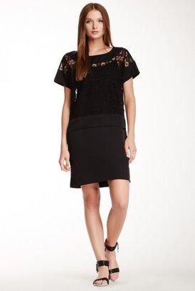 Catherine Malandrino Joanna Silk Trim Shift Dress