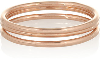 Dolce & Gabbana Maria Black Set of three rose gold-plated rings