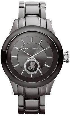 Karl Lagerfeld Chain Detail Bracelet Watch, 40mm