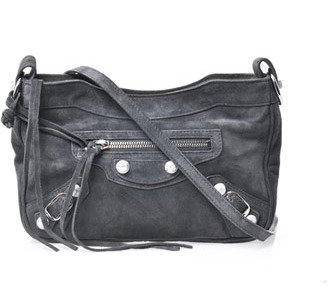 Balenciaga Classic Hip suede studded bag