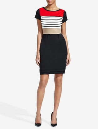 The Limited Colorblocked Stripe Sheath Dress