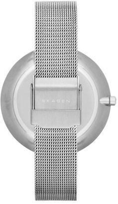 Skagen 'Gitte' Round Slim Mesh Strap Watch, 38mm
