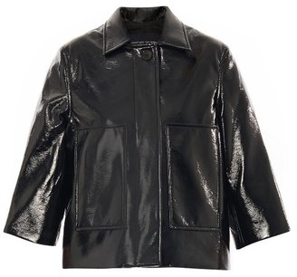 Jonathan Saunders Simone vinyl cropped jacket