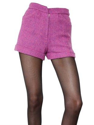 House of Holland Harris Wool Tweed Shorts