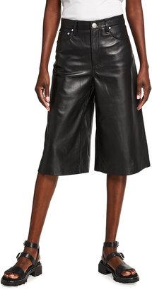Rag & Bone Super High-Rise Leather Culottes