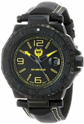 Brillier Men's 25-01 Hype 44mm PVD Plated Stainless Steel Date Function Watch