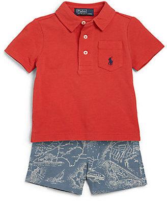 Ralph Lauren Infant's Two-Piece Polo Shirt & Shorts Set