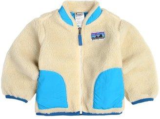 Patagonia Baby Retro-X Jacket (Infant/Toddler) (Natural w/Larimar Blue) - Apparel