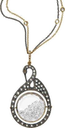 Moritz Glik Diamond Swan Pendant Necklace