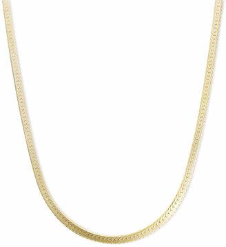"Macy's 14k Gold Necklace, 18"" Flat Herringbone Chain (1-1/4mm)"