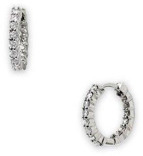 Roberto Coin 12mm Small Diamond Hoop Earrings