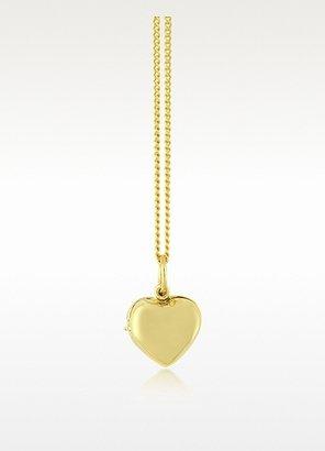 Les Nereides Wedding Heart Shape Silver Vermeil Necklace