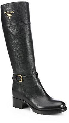 Prada Leather Knee-High Boots